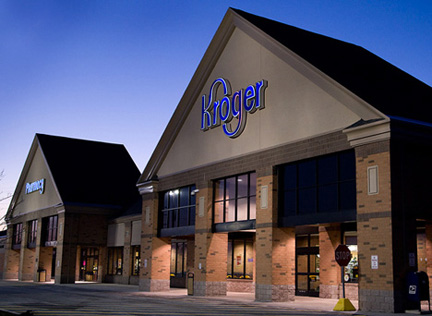 kroger store exterior, architectural photography