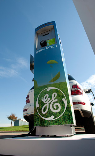 general electric, electric car charging station